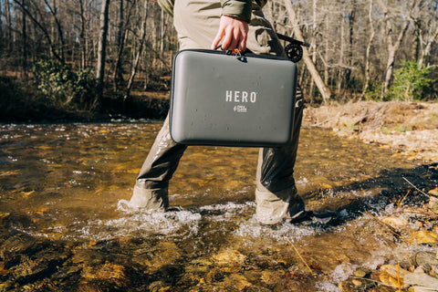 HERO Carry Case on Trout Stream