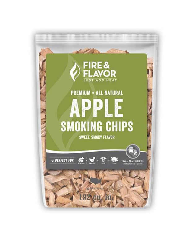 Fire & Flavor Apple Smoking Chips (2lb Bag)