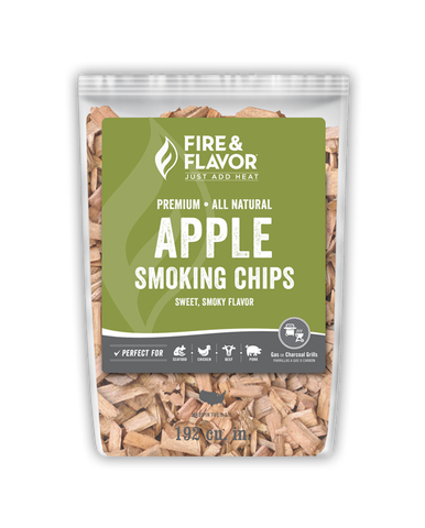 Fire & Flavor Apple Smoking Chips 2lbs, 6 Pack