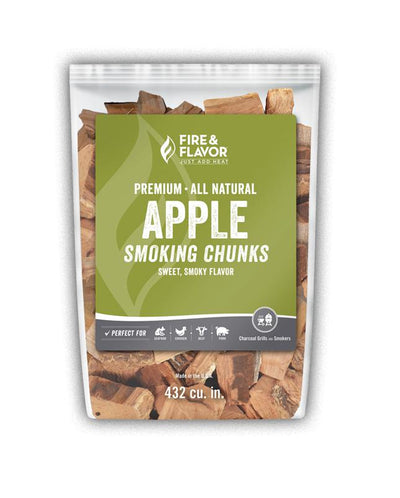 Fire & Flavor Apple Smoking Chunks (4lb Bag)
