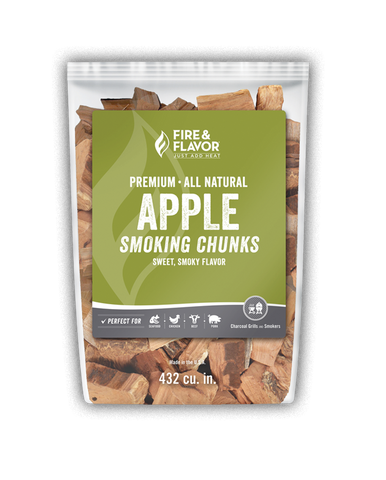 Fire & Flavor Apple Smoking Chunks 4lbs, 4 Pack
