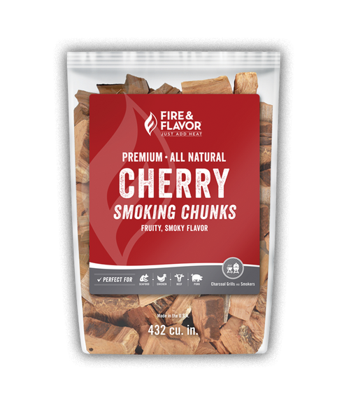 Fire & Flavor Cherry Smoking Chunks 4lbs, 4 Pack