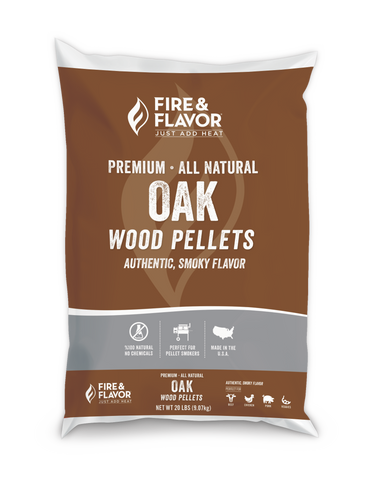 Fire & Flavor Oak Wood Pellets 20lbs