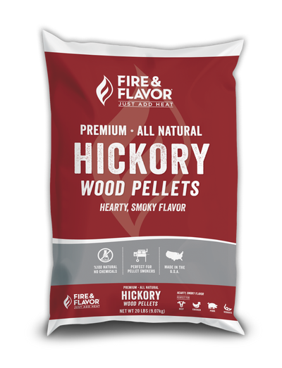 Fire & Flavor Hickory Wood Pellets (20 lb Bag)
