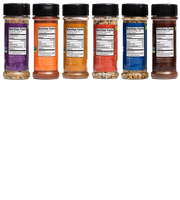 Fire & Flavor Rub & Seasoning Variety 6-Pack, (Coffee, Burger, Chicken, Salmon, Asian, Steak)