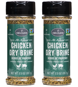 Fire & Flavor Chicken Dry Brine Herb de Provence 3.5oz, Pack of 2