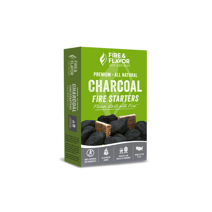 Fire & Flavor Fire Starters for Charcoal (24 Count)