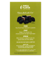Fire & Flavor Fire Starters for Charcoal 24 Count, Pack of 6