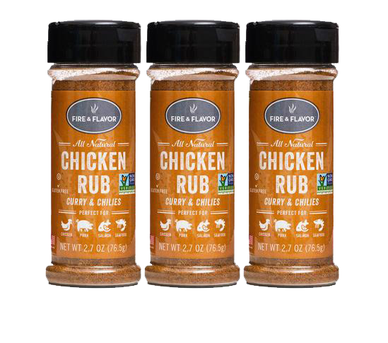 Fire & Flavor Chicken Rub, 2.7 Oz, Pack of 3