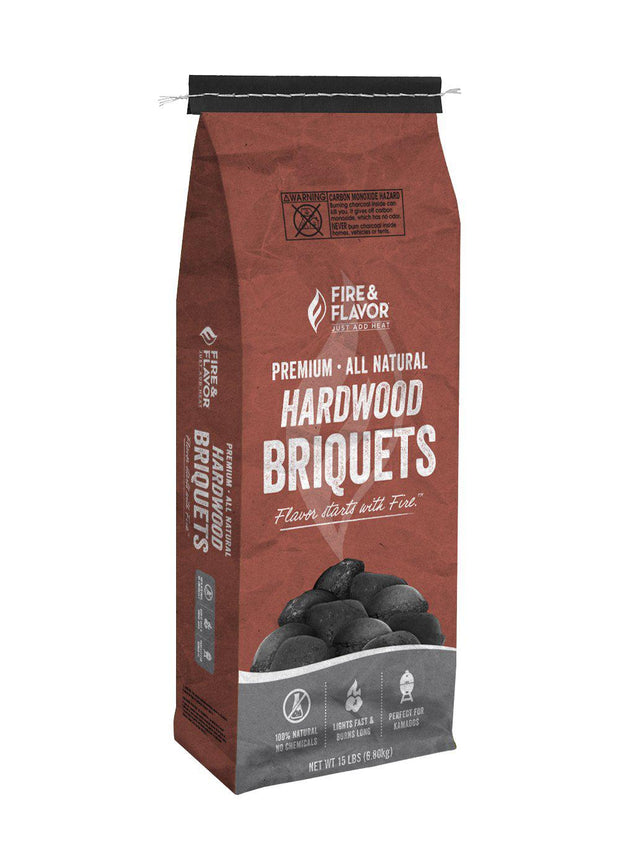 Hardwood Briquets (15lb Bag)