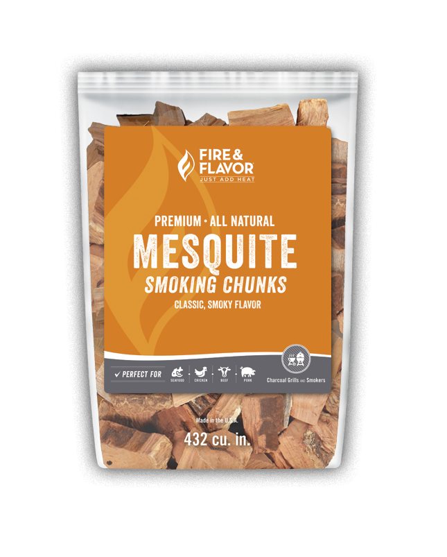 Fire & Flavor Mesquite Smoking Chunks 4lbs, 4 Pack