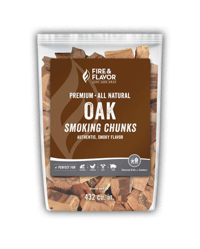 Fire & Flavor Oak Smoking Chunks (4lb Bag)