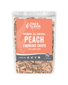 Fire & Flavor Peach Smoking Chips 2lbs, 6 Pack