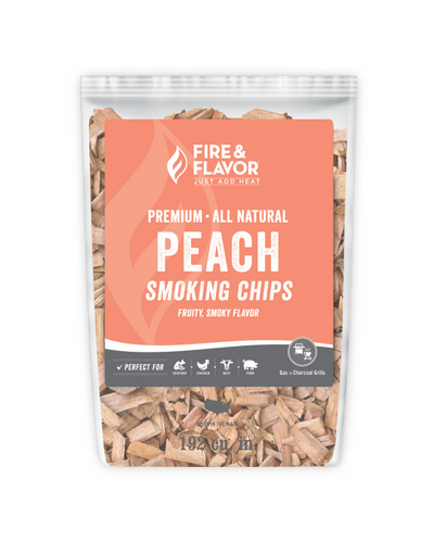Fire & Flavor Peach Smoking Chips (2lb Bag)