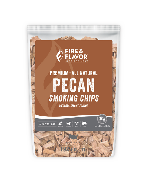 Fire & Flavor Pecan Smoking Chips 2lbs, 6 Pack