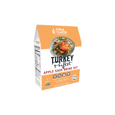 Fire & Flavor Turkey Perfect Apple Sage Brine Kit 16.6oz