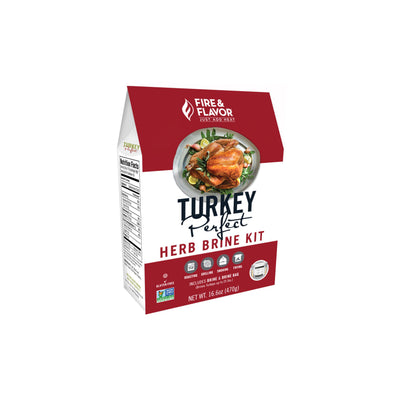 Fire & Flavor Turkey Perfect Herb Brine Kit 16.6oz