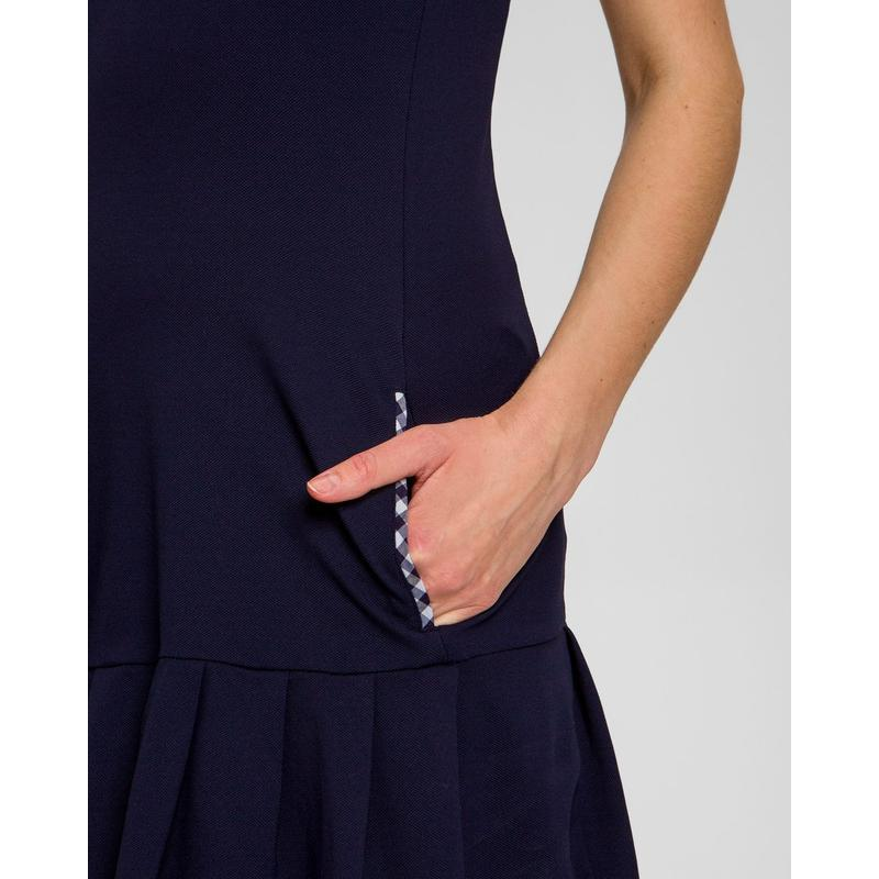 Chervò Jesi S/L Pleated Bottom Dress Navy Dresses - Open Court