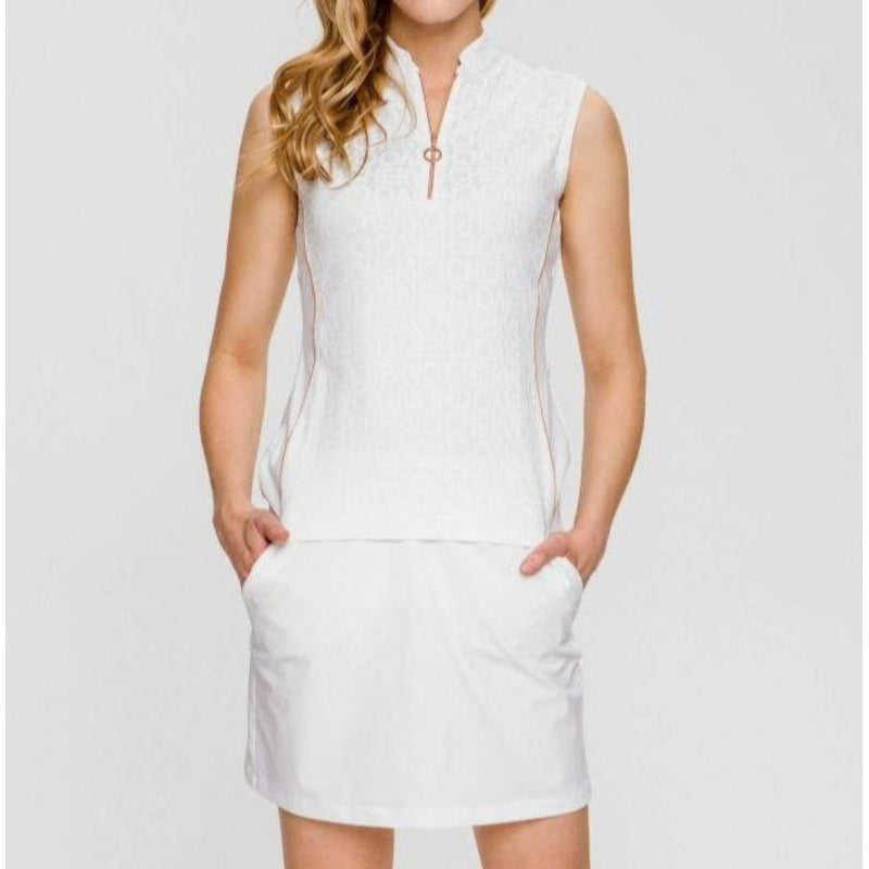 Chervò Jamby Skort - White/Copper Trim-Open Court