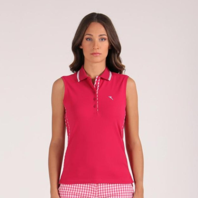 Chervò Arzignano S/L Polo w/Check Trim-Open Court