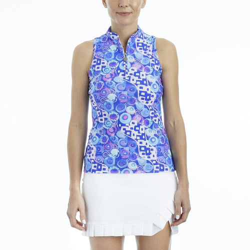 Tzu Tzu Bella Mock Neck Top - Cabo Rock-Open Court