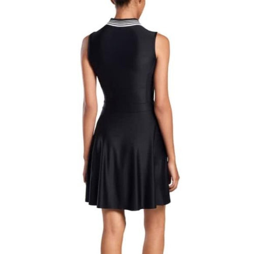 G/FORE Featherweight Zip Dress - Onyx-Open Court