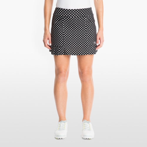 Tzu Tzu Kenley Skort - Black Dotty-Open Court