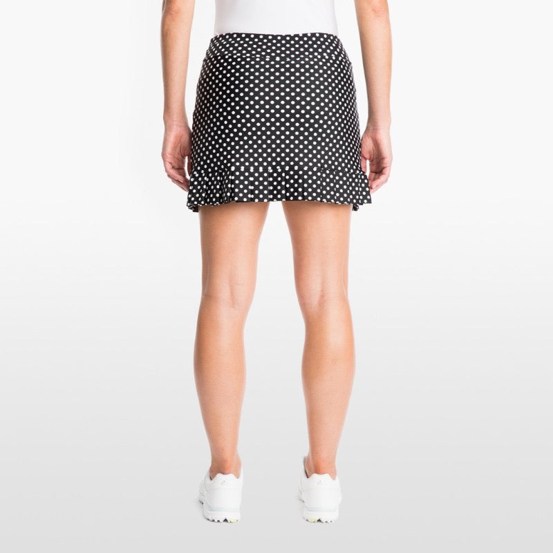 Tzu Tzu Kenley Skort - Black Dotty Bottoms - Open Court