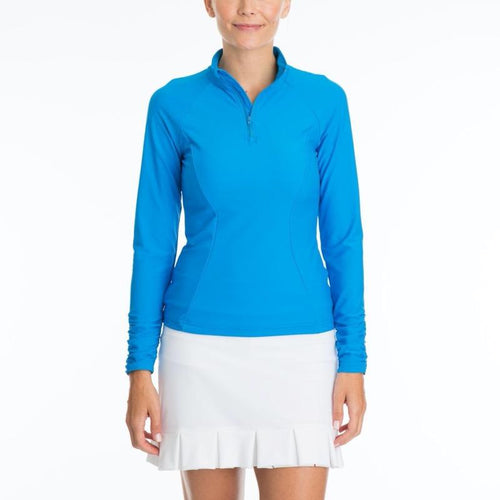 Tzu Tzu Sara L/S Top Corona Blue-Open Court