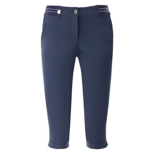 Chervò Stra Knee Length Capri - Navy-Open Court