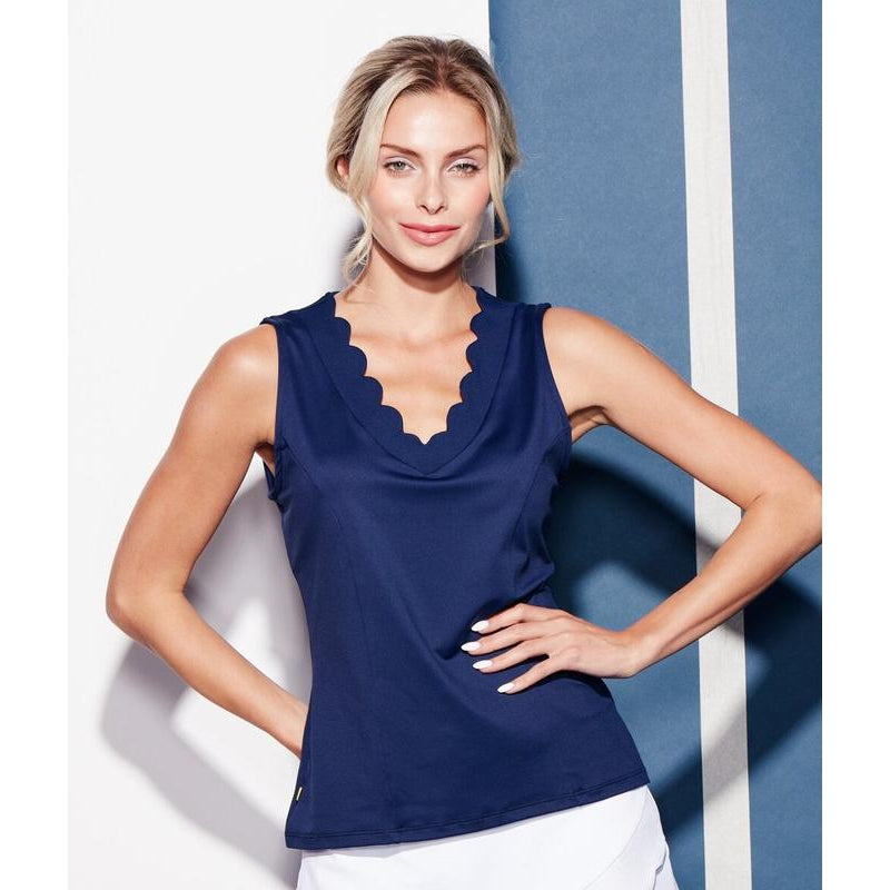 L'Oeuf Poche Cloud 9 S/L Tank - Navy Tops - Open Court