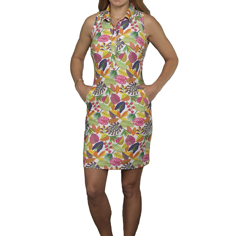 Tee2Sea S/L Golf Dress - Botanical Dresses - Open Court