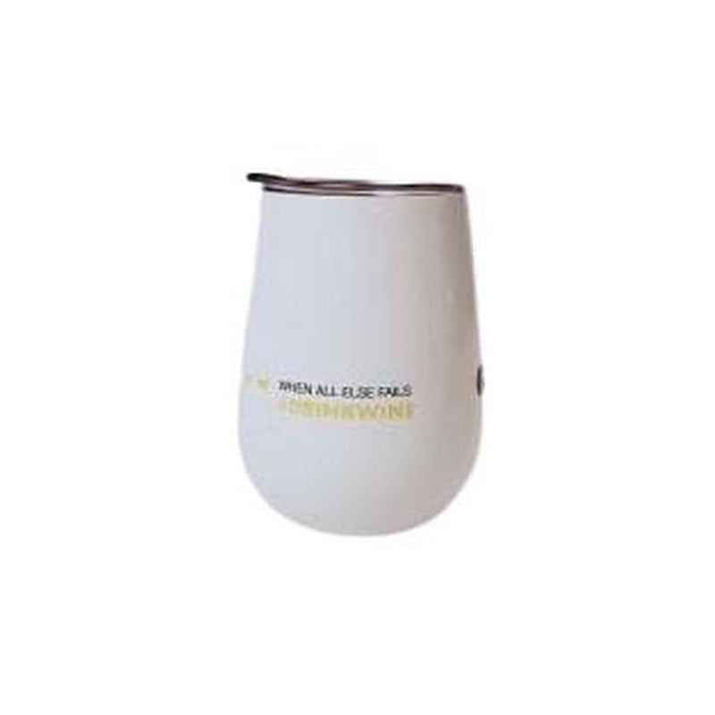 Wine Tumbler - When All Else Fails, Drink Wine-Open Court