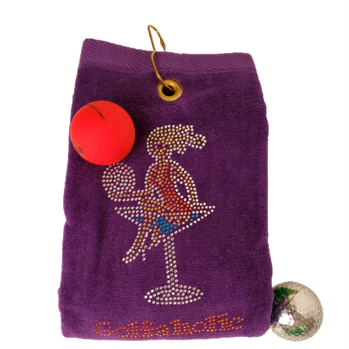 Navika Golf Towel - Purple - Golfaholic-Open Court