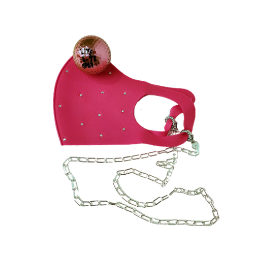 Navika Face Mask - Pink Swarovski Crystals-Open Court