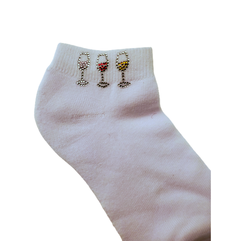 On the Tee Sock - 3 Wine Glasses-Open Court