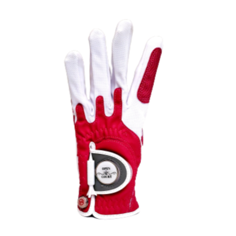 Zero Friction Golf Glove w/Magnet (Left) - Red Thumbnail Image 1