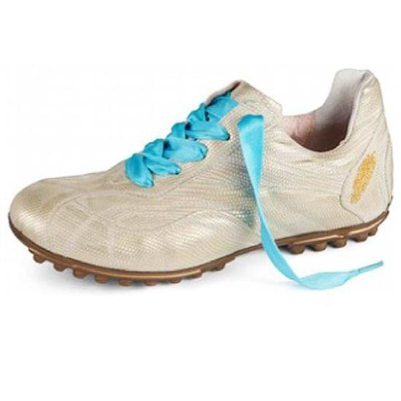 Henry & Magda Golf Shoe - Piuma Champ (Gold)-Open Court
