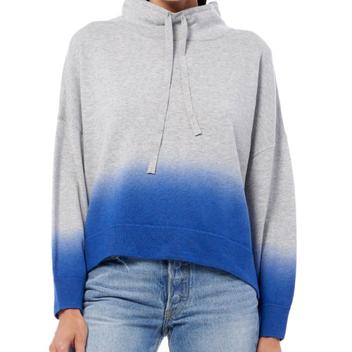 360 Cashmere Coral Sweater - Mist/Azure-Open Court