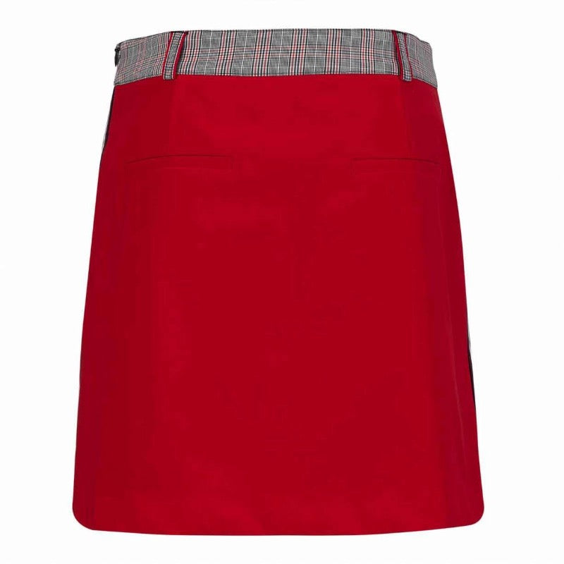 Golfino Club Checked Skort - Red Flame-Open Court