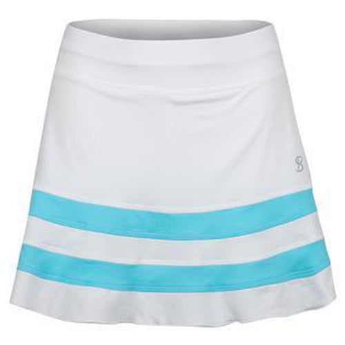 "Sofibella Skort 14"" White/Turq Trim-Open Court"