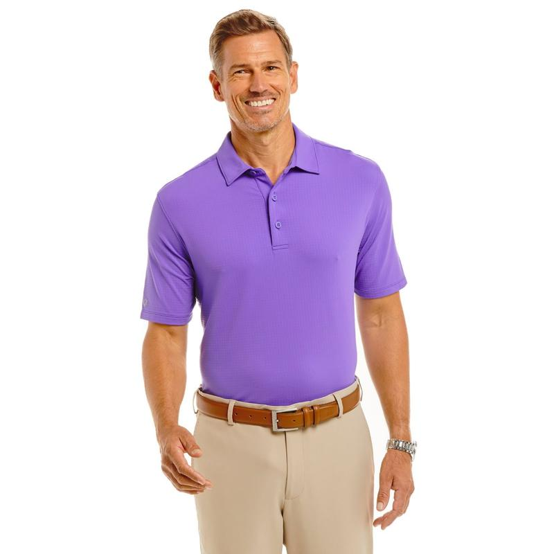 IBKUL Men's S/S Polo - Purple-Open Court