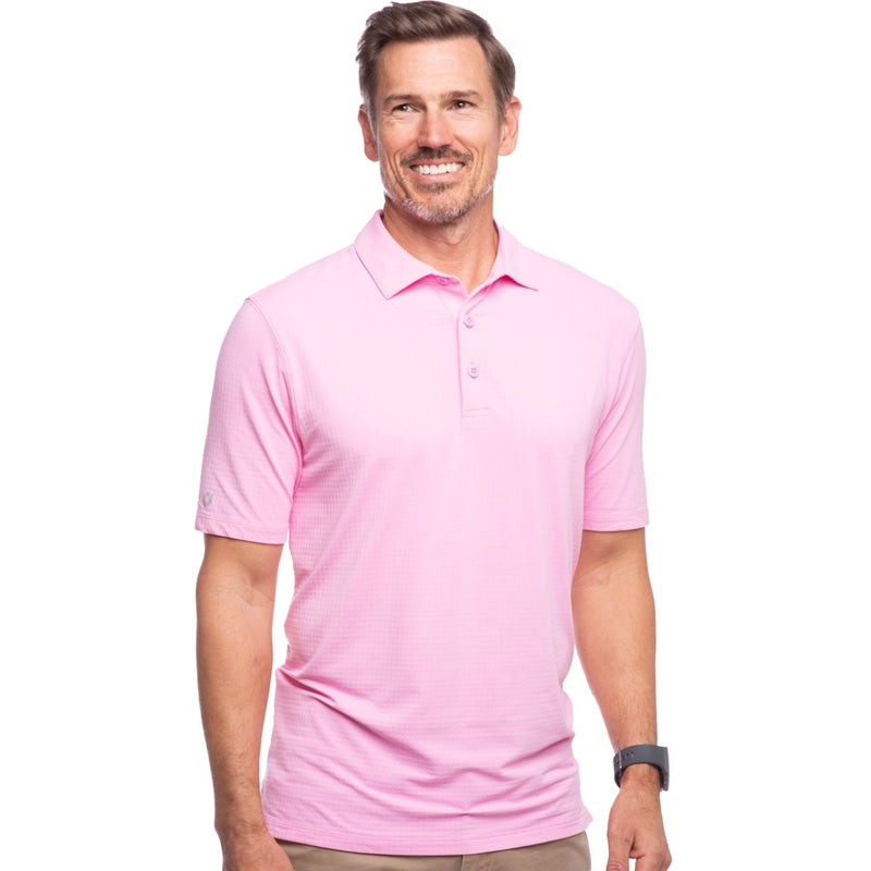 IBKUL Men's S/S Polo - Pink-Open Court