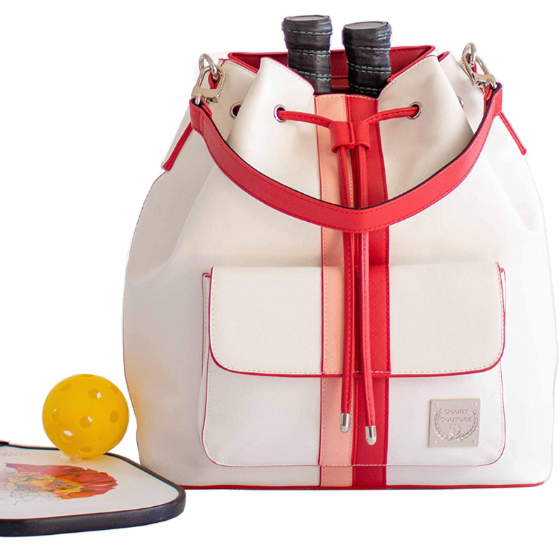 Court Couture Pickleball Bucket Bag - Alabaster-Open Court
