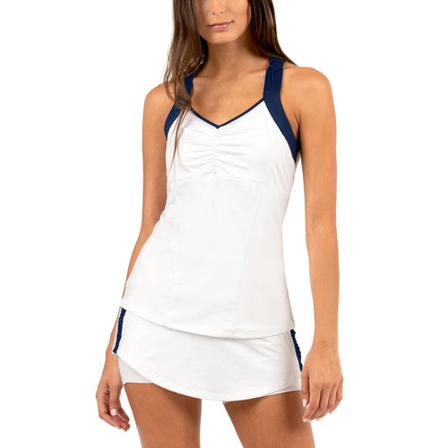 Lucky in Love Tahiti Macrame Cami - WHITE-Open Court