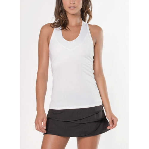 Lucky In Love Core V Neck Tank With Bra-Open Court