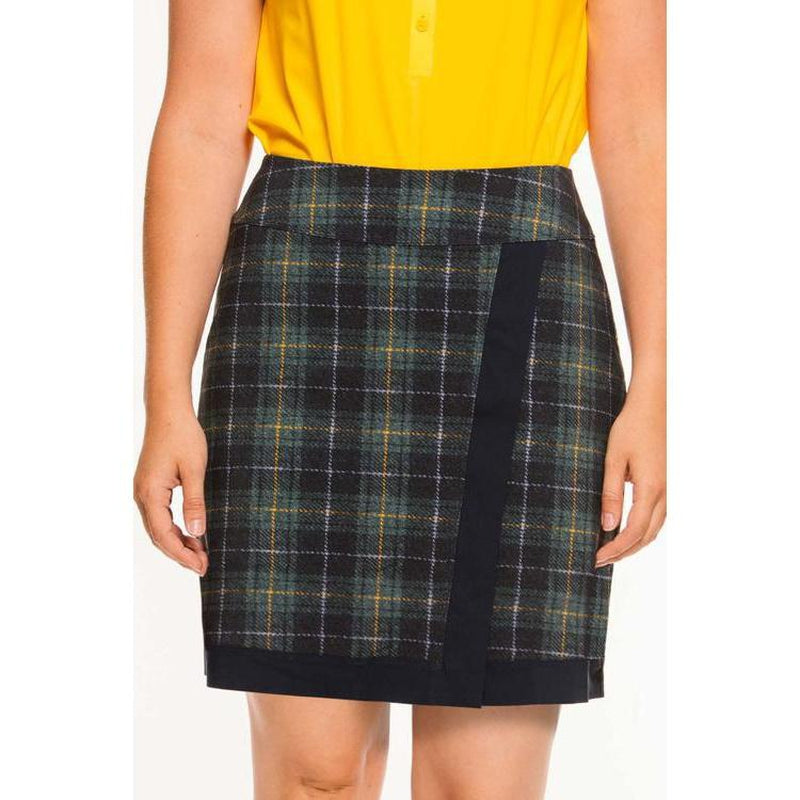 Foray Golf Club Quarters Skirt (Tall)- Plaid Print-Open Court