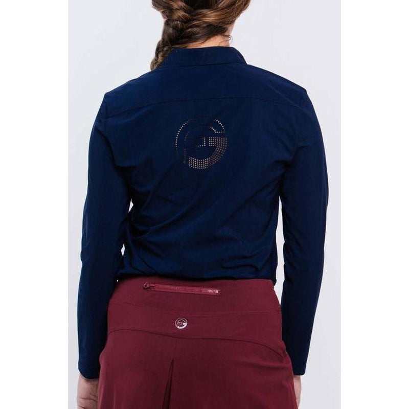 Foray Golf Long Sleeve Polo = Navy-Open Court