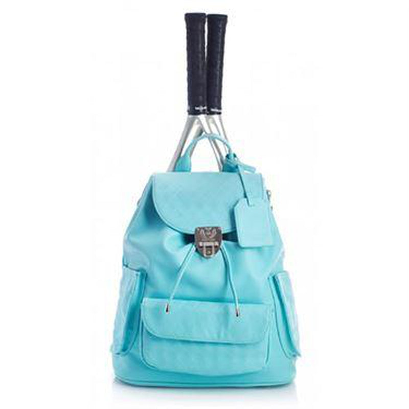 Court Couture Hampton Aquamarine Tennis Bag-Open Court