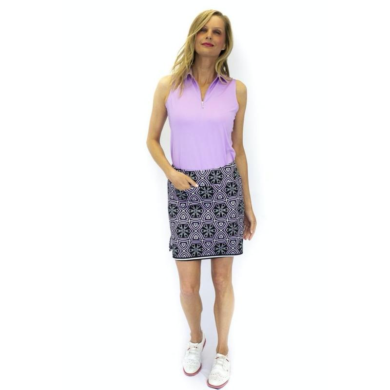 Golftini Sangria Pull-On Skort Bottoms - Open Court
